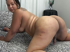 Curvy beauty Mystique is horny and ready for action! Mystique got an amazing thick body and a perfect big ass! Watch her looking sexy showing off her ample curves and stroking her cock until she pops a good load!