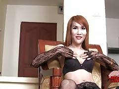 Peat is a sexy tgirl with a nice body and long slender legs. She has a good hard dick, watch her jacking off and cumming for you!