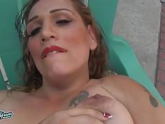 Sexy curvy transgirl with a hot soft body, a big juicy ass, big boobs and a hard cock!