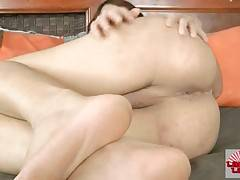 Slutty ladyboy lets you enjoy the view of all her charms.