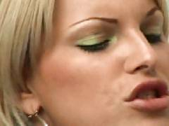 Blonde tranny Kaike Montany just gave her lover a taste of her sinful oral pleasure. She got him so horny and got herself fucked hard in this steamy porn scene. He slams her asshole hard with his dick and later gave her a dose of his warm anal creamp