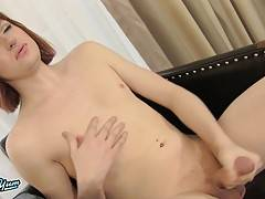 Coco Dahlia is a sexy red headed tgirl with a sexy slim body, a nice round ass and a big hard cock! See this horny transgirl playing with her cock!