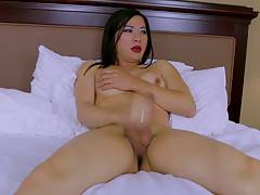 She maid that decision and when you see the amount of cum she shoots in this exclusive scene